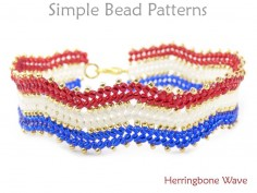 How to Make a Beaded Herringbone Stitch Bracelet Beading Pattern