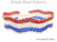 How to Make a Beaded Herringbone Stitch Bracelet Beading Pattern