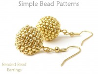 Beaded Bead Earrings Peyote Stitch Beading Pattern Jewelry Tutorial