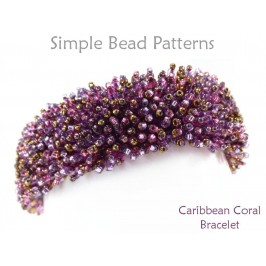 Fringe Stitch Beaded Bracelet Jewelry Making by Simple Bead Patterns