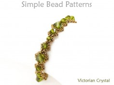 Right Angle Weave Bracelet Pattern with Swarovski Crystals Tutorial