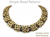 Cheetah Animal Print Carrier Bead Peyote Stitch Necklace Tutorial