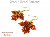 Beaded Autumn Leaf Earrings Fall Jewelry Making Beading Pattern