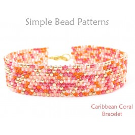 Fringe Stitch Beaded Bracelet Jewelry Making by Simple Bead Patterns
