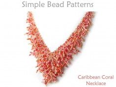 DIY Beaded Fringe Necklace Diagonal Peyote Stitch Beading Pattern