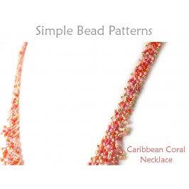 DIY Beaded Fringe Necklace Diagonal Peyote Stitch Beading Pattern