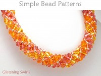 Beaded Crystal Bracelet and Necklace Russian Spiral Jewelry Making