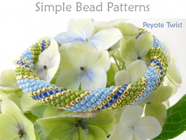Peyote with a Twist (PWAT) Beading Pattern Jewelry Making Tutorial