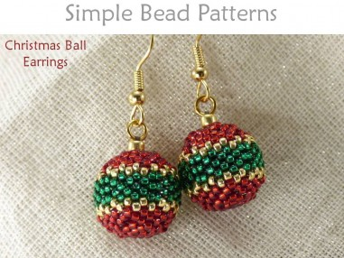 Beaded Bead Christmas Ball Earrings Holiday Jewelry Making Tutorial