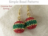 Beaded Bead Christmas Ball Earrings Holiday Jewelry Making Tutorial