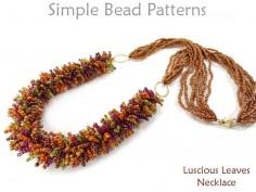 Multi-Strand Beaded Fringe Necklace Jewelry Making Beading Pattern