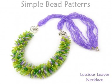 Multi-Strand Beaded Fringe Necklace Jewelry Making Beading Pattern