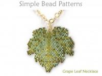 Beaded Grape Leaf Necklace Peyote Stitch Jewelry Making Tutorial