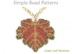 Beaded Grape Leaf Necklace Peyote Stitch Jewelry Making Tutorial