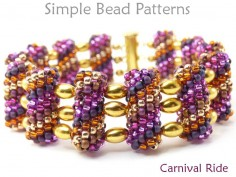 Tubular Peyote Beaded Bead Multi-Strand Bracelet Beading Pattern