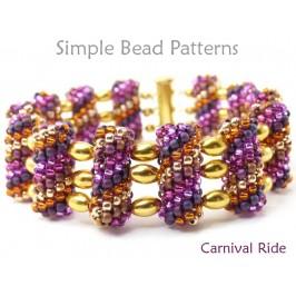Tubular Peyote Beaded Bead Multi-Strand Bracelet Beading Pattern