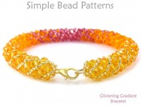 Beaded Crystal Bracelet with Color Transition Jewelry Making Tutorial