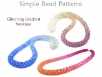 Beaded Crystal Necklace with Gradient Blended Colors Jewelry Making