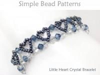 Beaded Heart Crystal Bracelet Beading Pattern Jewelry Tutorial