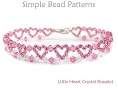 Beaded Heart Crystal Bracelet Beading Pattern Jewelry Tutorial