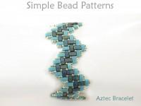 Miyuki Half Tila Beads Zig Zag Bracelet Jewelry Making Beading Pattern