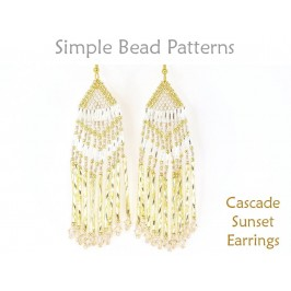 Brick Stitch Beading Pattern to Make Long Beaded Fringe Earrings