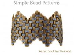 Miyuki Half Tila Beads Wide Zig Zag Bracelet Jewelry Making Beading Pattern
