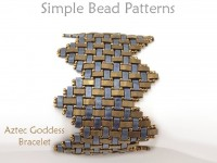 Miyuki Half Tila Beads Wide Zig Zag Bracelet Jewelry Making Beading Pattern