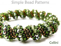 Cellini Spiral Tubular Peyote Stitch Bracelet Necklace Beading Pattern