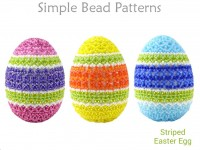 Beading Tutorial for How to Make a Colorful Beaded Easter Egg Decor