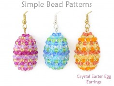 3D Crystal Easter Egg Earrings DIY  Jewelry Making Beading Pattern