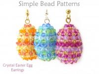 3D Crystal Easter Egg Earrings DIY  Jewelry Making Beading Pattern