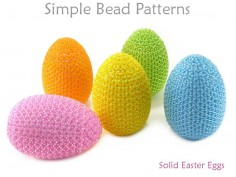 Fun and Easy Tutorial for Colorful Beaded Easter Eggs Spring Decor