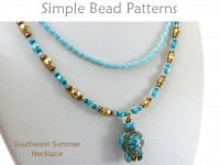 Beginner Jewelry Making Beading Pattern for a 2-Strand Necklace
