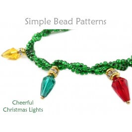 DIY Christmas Light Necklace Bracelet Earrings Holiday Beading Pattern