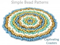 DIY Beaded Coaster Beading Pattern with Seed Beads for Home Decor