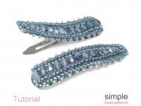 DIY Beaded Hair Clip Barrette Jewelry Making Tutorial for Beginners