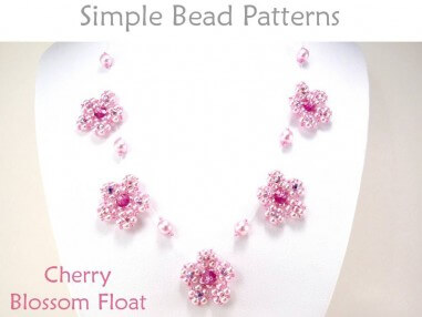 Beaded Cherry Blossom Flower Float Necklace Jewelry Making Pattern