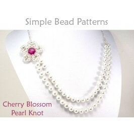 Beaded Cherry Blossom Flower Necklace Pearl Knot Beading Pattern
