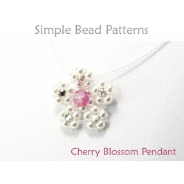 Beaded Cherry Blossom Flower Pendant Necklace Jewelry Making Tutorial