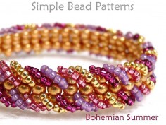 Embellished Ladder Stitch DIY Beaded Bracelet Beading Pattern