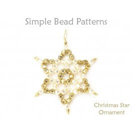 Easy Christmas Tree Star Ornament Beading Tutorial for Beginners