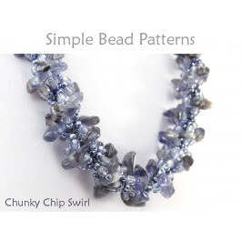 Gemstone Chip Spiral Stitch Beaded Necklace Bracelet Beading Pattern