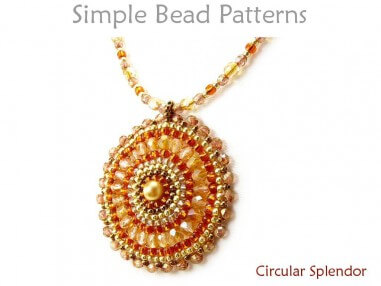 Circular Brick Stitch Beaded DIY Necklace Jewelry Making Tutorial