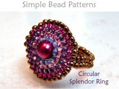 Circular Brick Stitch DIY Beaded Ring Jewelry Making Tutorial