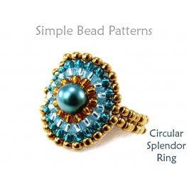 Circular Brick Stitch DIY Beaded Ring Jewelry Making Tutorial
