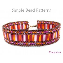 Easy Peyote Stitch DIY Beaded Bracelet Jewelry Making Beading Pattern