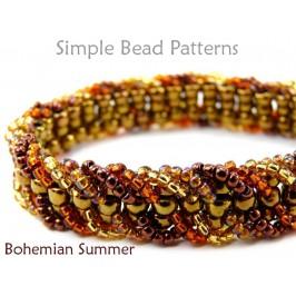 Embellished Ladder Stitch DIY Beaded Bracelet Beading Pattern