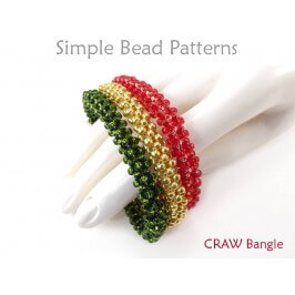 DIY Beaded Bangle Bracelet Using Cubic Right Angle Weave CRAW Tutorial
