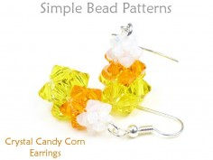 Halloween Candy Corn DIY Earrings Jewelry Making Beading Pattern